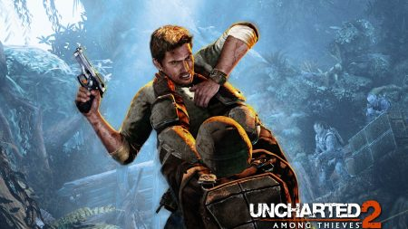 uncharted 2 among thieves, pistol, battle