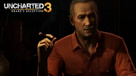 uncharted 3 drakes deception, male, shirt