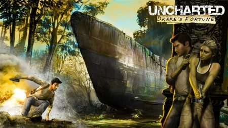 uncharted drakes fortune, girl, pistol