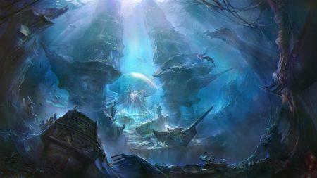 underwater world, ships, sea