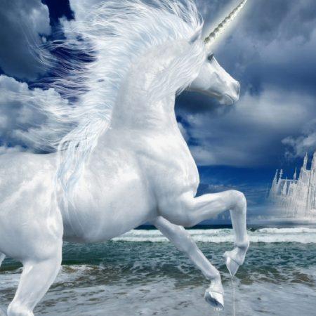unicorn, lock, phantom