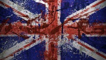 united kingdom, flag, paint