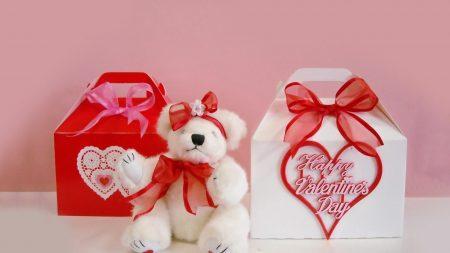 valentines day, bear, sitting