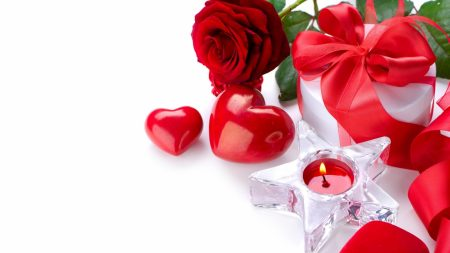 valentines day, gift, candle
