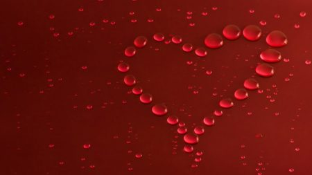valentines day, heart, drops