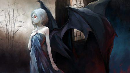 vampire, wings, girl
