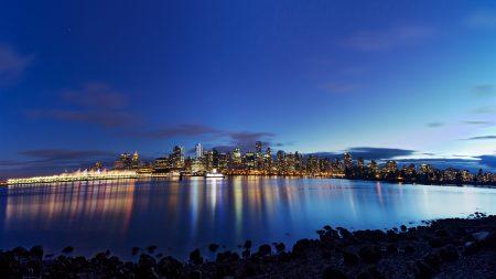 vancouver, night, panorama
