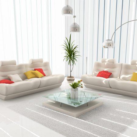 vase, sofa, lamp