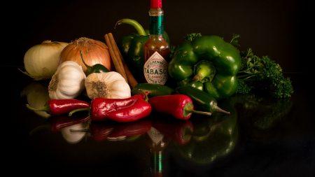vegetables, onions, garlic