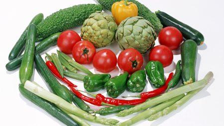 vegetables, pepper, cucumbers