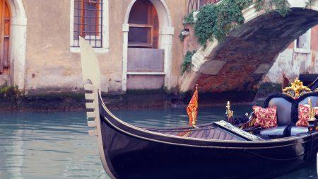venice, gondola, canal