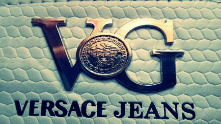 versace, logo, brand
