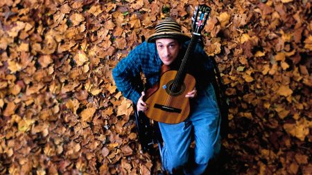 vic chesnutt, leaves, guitar