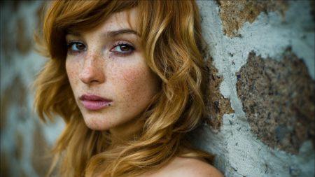 vica kerekes, red hair, freckles