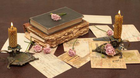 vintage, books, old