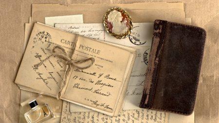 vintage, notebook, locket