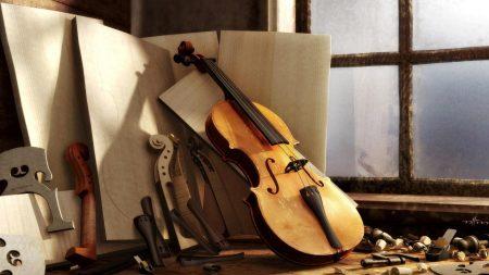 violin, windows, light