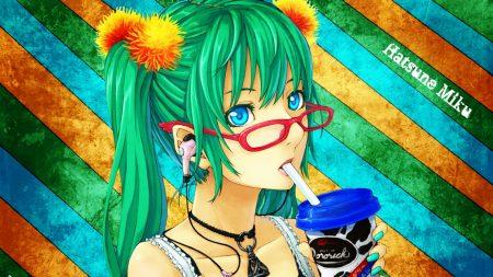 vocaloid, girl, glasses