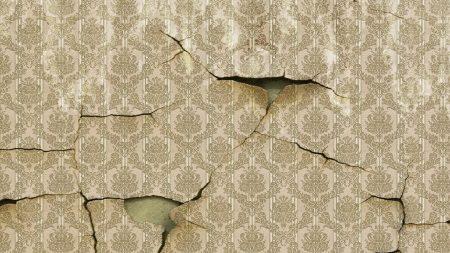 wallpaper, walls, cracks