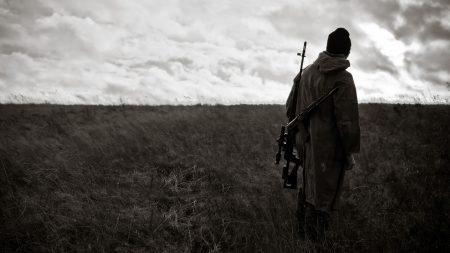 war, field, warrior