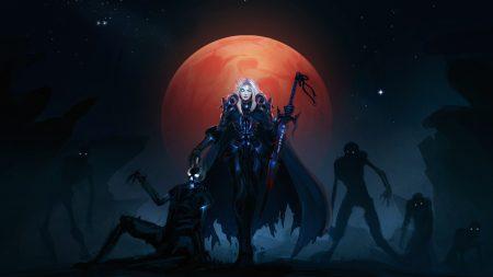 warcraft, girl, moon