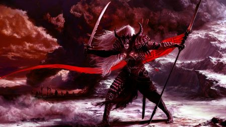 warrior, weapon, posture