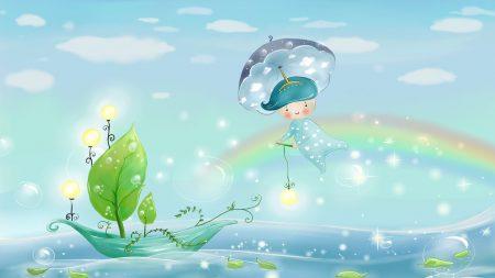 water, rain, umbrella