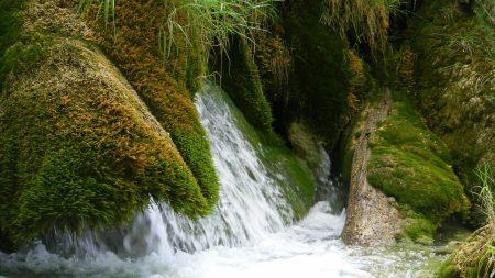 waterfall, stream, nature