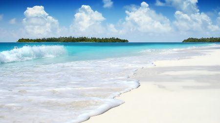 wave, ocean, islands