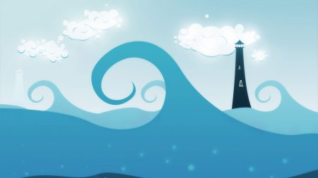 wave, tower, cloud