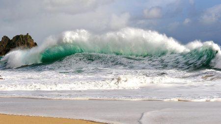 waves, storm, coast