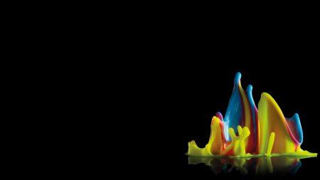 wax, spray colorful, splash