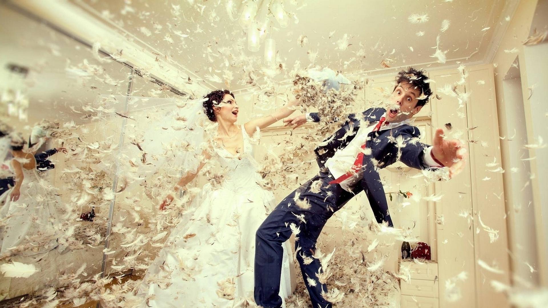 Download Wallpaper 1920x1080 Wedding Down Bride Groom Dress Fight Full Hd 1080p Hd Background