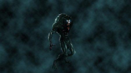 werewolf, mouth, fangs