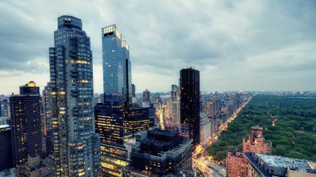 west midtown, new york, twilight