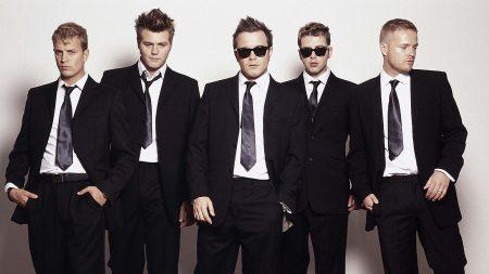 westlife, suits, ties