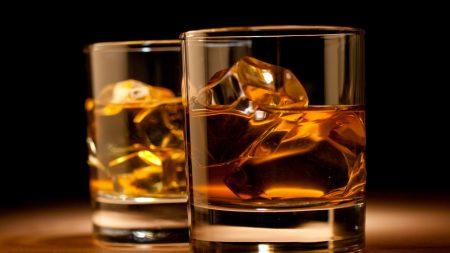 whiskey, drink, glasses