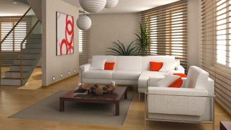 white, couch, interior