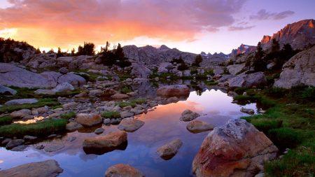 wind river range, wyoming, stones