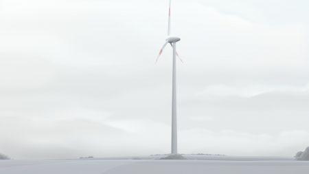 windmill, city, gloomy
