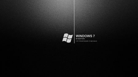windows 7 bw, 64, text