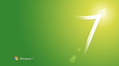 windows 7, green, white