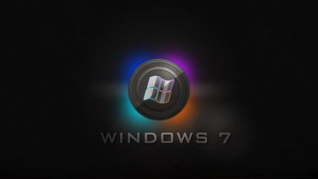 windows 7, logo, blue