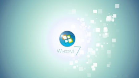 windows 7, square, white