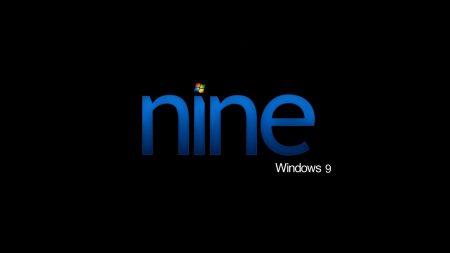 windows 9, blue, black