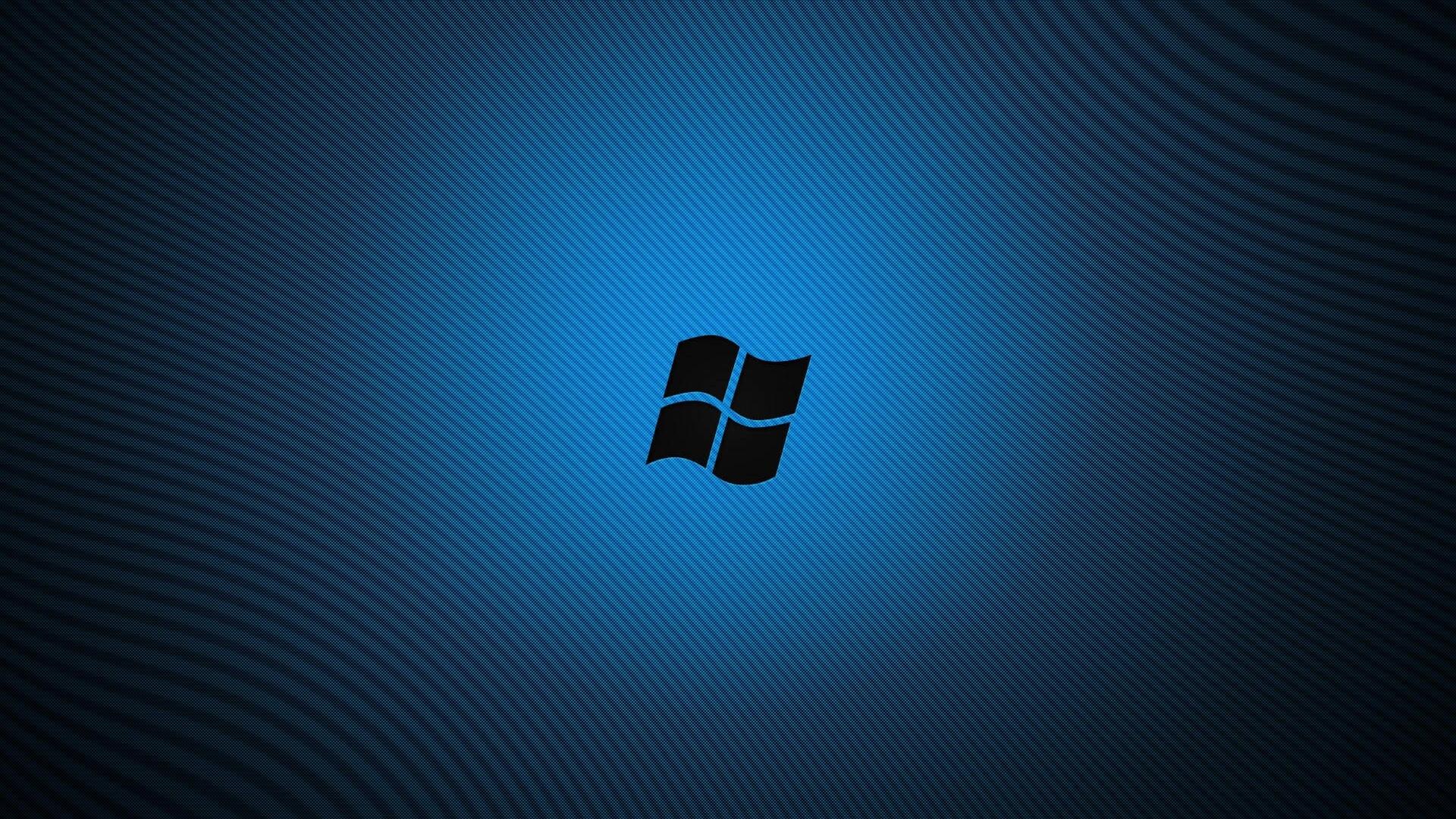 Download Wallpaper 1920x1080 Windows Blue Black Logo Full Hd