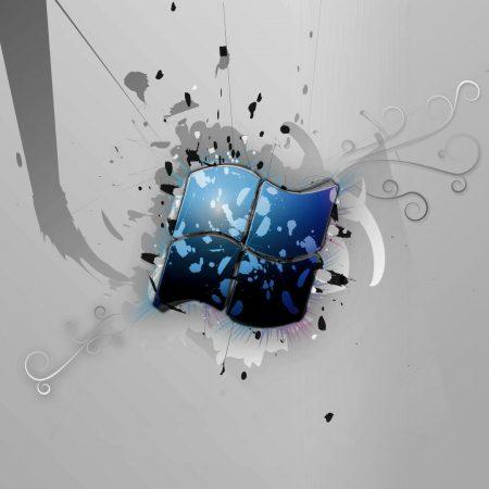 windows, blue, broken