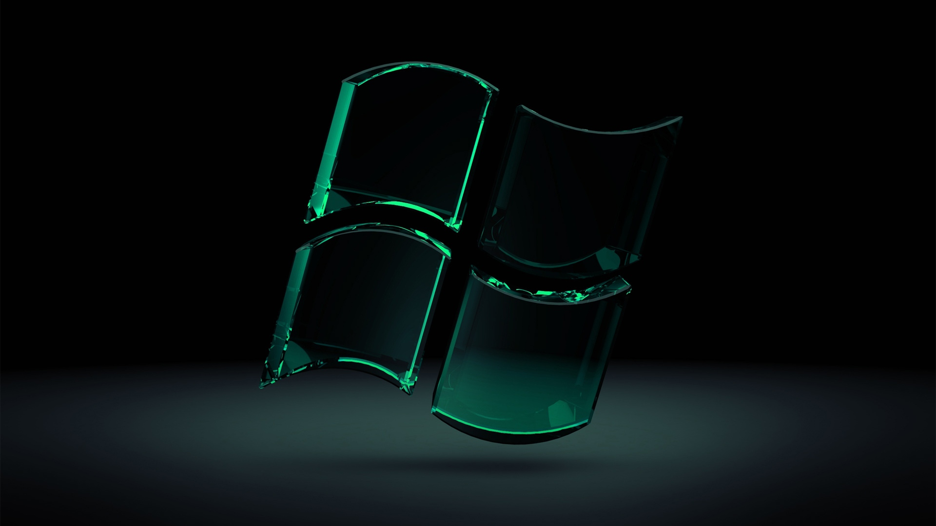 download wallpaper 1920x1080 windows green black glass