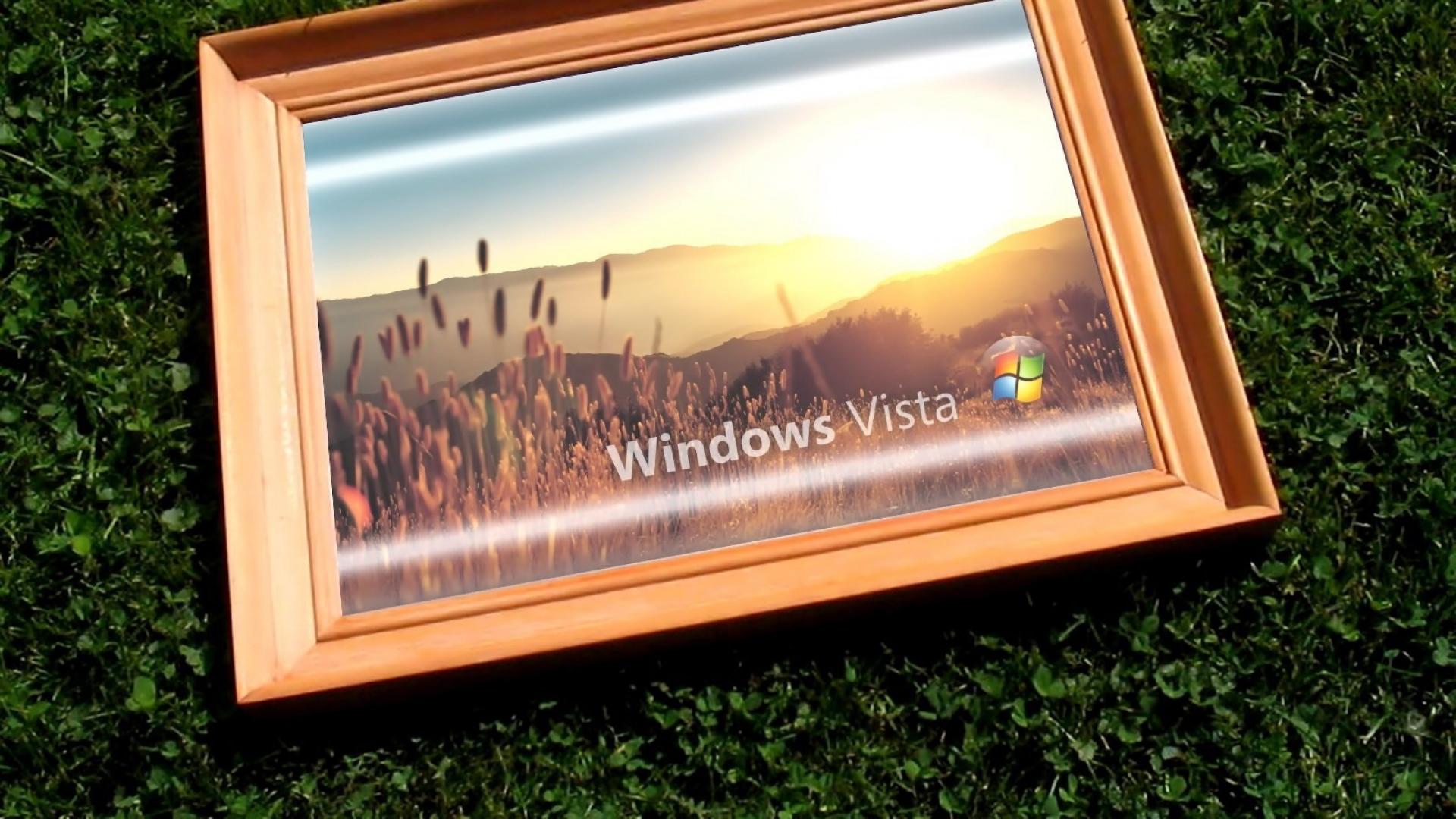 Download Wallpaper 1920x1080 Windows Vista Frame Grass Full Hd