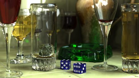 wine glasses, cube, style